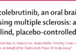 Lancet Neurol:口服脑穿透性BTK抑制剂托莱布替尼治疗复发性多发性硬化症的安全性和有效性?