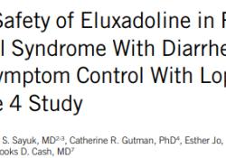 Am J Gastroenterol:依鲁沙多林可有效且安全的治疗罗哌酰胺治疗后效果不佳的肠易激综合征患者的腹泻症状