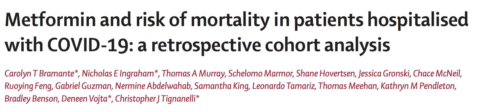 二甲双胍可降低2型糖尿病或肥胖女性COVID-19死亡风险