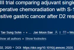 Ann Oncol:3期| 胃癌的两种标准辅助化疗和一种标准放化疗的疗效PK!