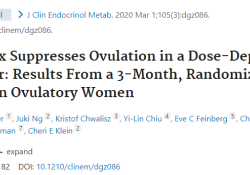 "J Clin Endocrinol Metab:Elagolix会以剂量依赖性的方式<font color=""red"">抑制</font>女性排卵"