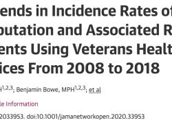 "JAMA Netw Open:美国退伍军人<font color=""red"">下肢</font><font color=""red"">截肢</font>流行病学趋势"
