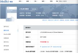 MedSci期刊数据库加上《国际期刊预警名单(试行)》的预警提示