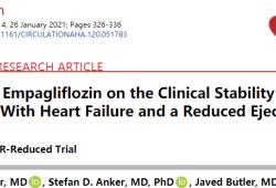 Circulation:恩格列净有效减低射血分数降低的心衰患者的心衰恶化风险