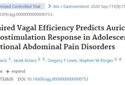 Am J Gastroenterol:测量心脏迷走神经调节受损可预测耳廓神经刺激的疼痛改善