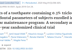 "J Periodontol:牙周炎/种植体周围炎的维护治疗,选择这种<font color=""red"">牙膏</font>试试!"
