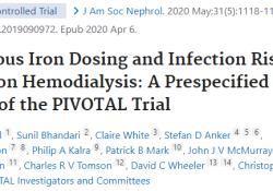 "J Am Soc Nephrol:<font color=""red"">血液</font>透析患者静脉注射铁剂量和<font color=""red"">感染</font>风险之间的关系"