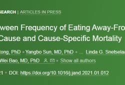 在家做饭越多越长寿?经常外出就餐或增加死亡风险