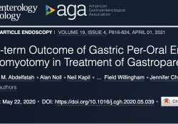 "Clin Gastroenterology H: <font color=""red"">胃</font>经口内镜下幽门切开术治疗<font color=""red"">胃</font>轻瘫的远期疗效分析"