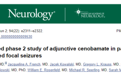 Neurology:西诺巴胺辅助治疗可显著改善未控制的癫痫局灶性发作