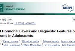 J Clin Med:青少年多囊卵巢综合征的相关激素水平及诊断特点分析