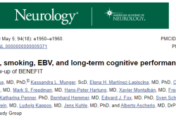 Neurology:维生素D、吸烟和EBV可预测多发性硬化症患者长期认知功能