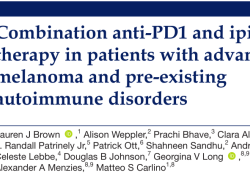 "J Immunother Cancer:PD1抑制剂联合ipilimumab在伴有自身<font color=""red"">免疫</font><font color=""red"">疾病</font>晚期黑素色瘤患者的疗效<font color=""red"">与</font>安全性"