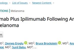 JCO:Pembrolizumab 联合Ipilimumab治疗PD1/PDL1抑制剂失败黑素色瘤的疗效和安全性