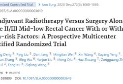 Ann Surg:新辅助放疗VS.单纯手术治疗有或无高危因素的II/III期直肠癌的疗效