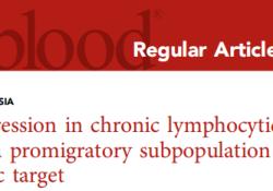 "Blood:TLR9,慢性<font color=""red"">淋巴</font><font color=""red"">细胞</font>白血<font color=""red"">病</font>的新治疗靶点!"