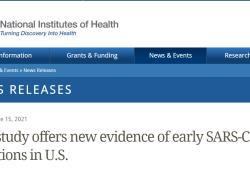 美国国立卫生研究院最新研究发现2019年12月新冠病毒已在美国传播