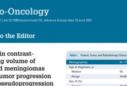 Neuro Oncol.:脑膜瘤放疗后增强造影体积的增加反映了肿瘤的进展,而不是假进展