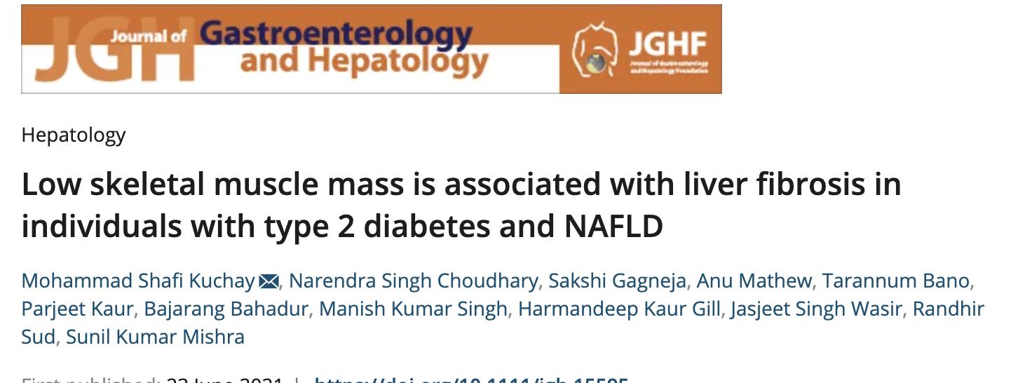 低骨骼肌质量与2型糖尿病和 NAFLD 患者的肝纤维化有关