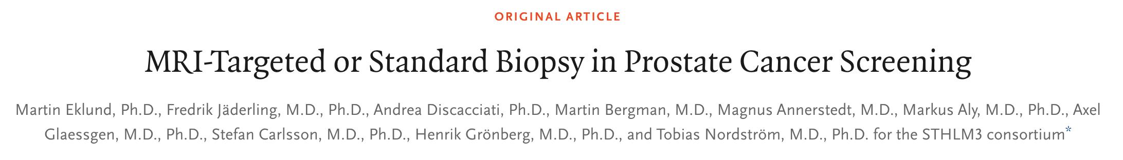 """磁共振成像可增加前列腺癌檢出率并減少""""過度診斷"""""""