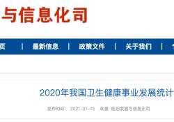 """2020 年我国<font color=""""red"""">卫生</font>健康事业发展<font color=""""red"""">统计</font>公报发布最新全国医院、医生数量"""