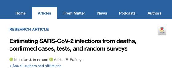 PNAS:美国新冠确诊病例或被低估高达60%,可能最高多达6500万美国人感染