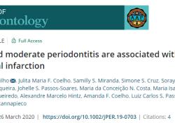 "J Periodontol:牙周炎的严重程度与急性<font color=""red"">心肌</font><font color=""red"">梗死</font>之间存在关联"