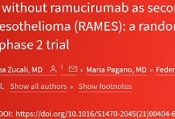 Lancet Oncol:雷莫芦单抗+吉西他滨作为二线疗法可显著延长恶性胸膜间皮瘤患者的生存期!