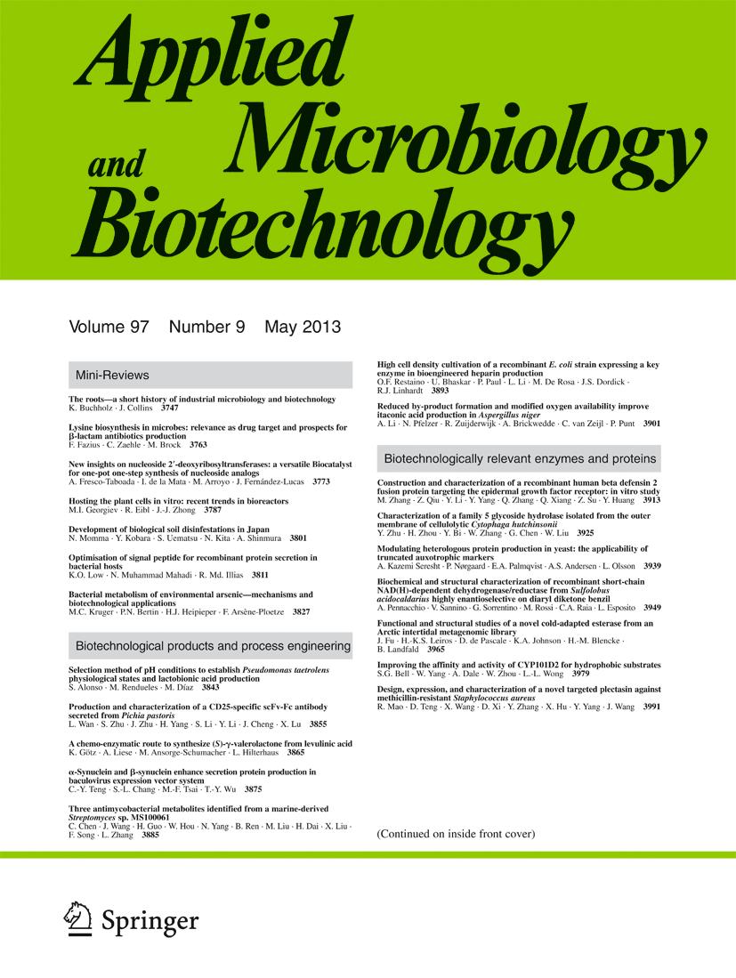 APPL MICROBIOL BIOT