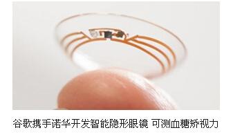 <b>谷歌携手诺华开发智能隐形眼镜 可测血糖矫视力</b>