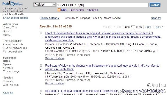 利用PubReMiner汇总分析PubMed查询结果提高查询效率