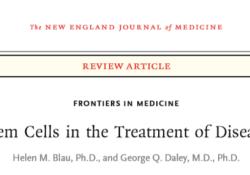 NEJM:干细胞在疾病治疗方面的应用