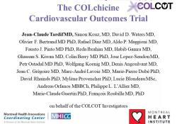 "AHA 2019丨COLCOT试验:COLchicine<font color=""red"">心血</font><font color=""red"">管</font>结局试验"