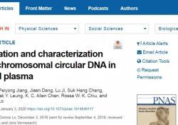 "PNAS:卢煜明团队PNAS发表新成果,在母体血浆中发现<font color=""red"">环状</font>DNA"